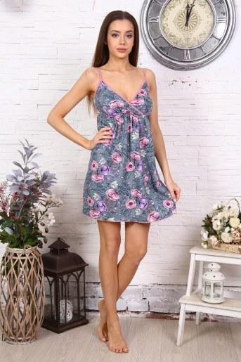 Сорочка 10517 (Цветы) - Фаина