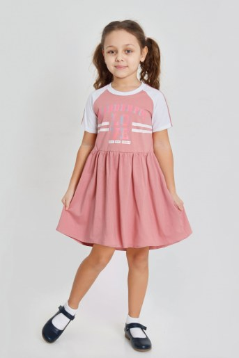 Платье Илария детское (Сухая роза) - Фаина