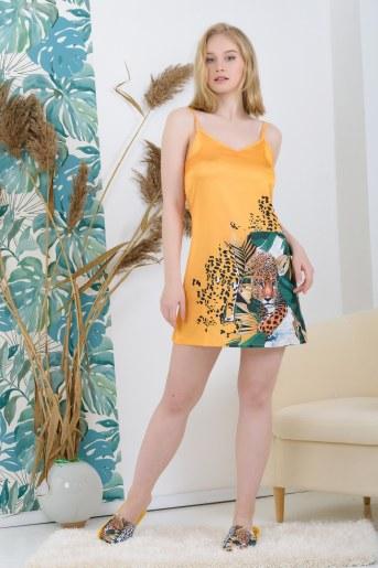 Сорочка 25523 шелковая (Желтый) - Фаина