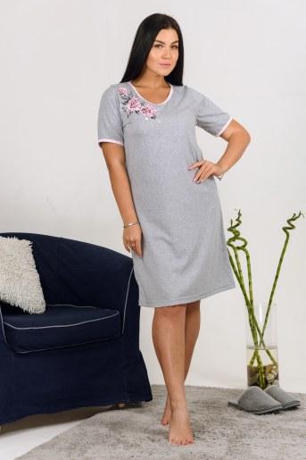 Сорочка Сайрес (Серый-меланж) - Фаина