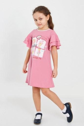 Платье Сусана детское (Розово-брусничный) - Фаина