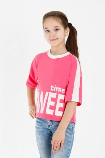 Футболка Свет детская (Кораллово-розовый) - Фаина