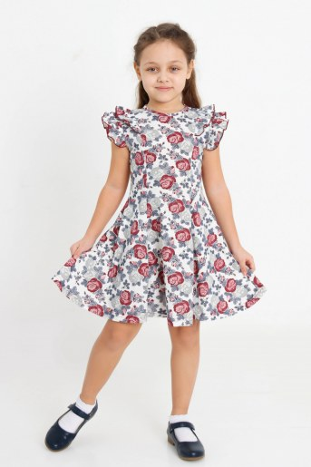 Платье Розолина детское (Молочный) - Фаина
