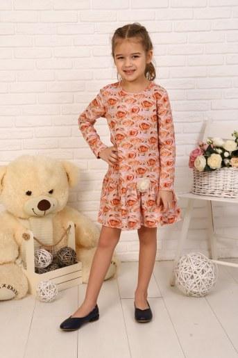 Платье Бутон детское (Персик) - Фаина