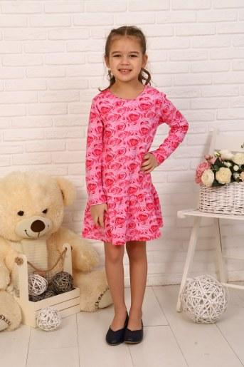 Платье Аромат детское (Розовый) - Фаина