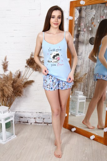 Пижама 25176 (Голубой) - Фаина