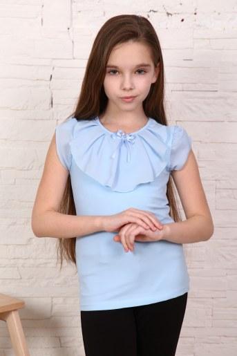 Джемпер Миленушка кор. рукав детский (Светло-голубой) - Фаина