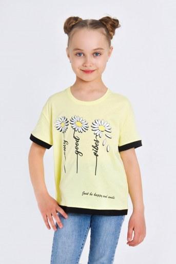 Футболка Рузанна детская (Светло-желтый) - Фаина