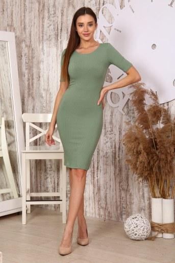 Платье 25320 (Оливковый) - Фаина