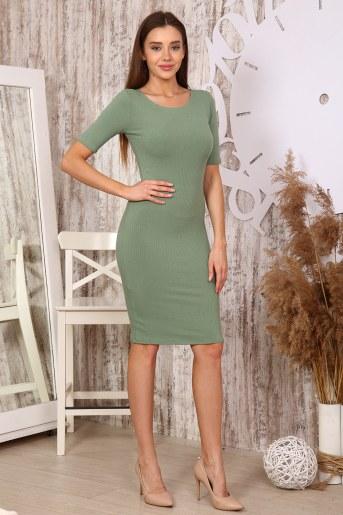 Платье 25320 (Оливковый) (Фото 2)