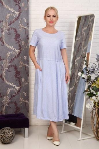Платье 27601 (Голубой) - Фаина