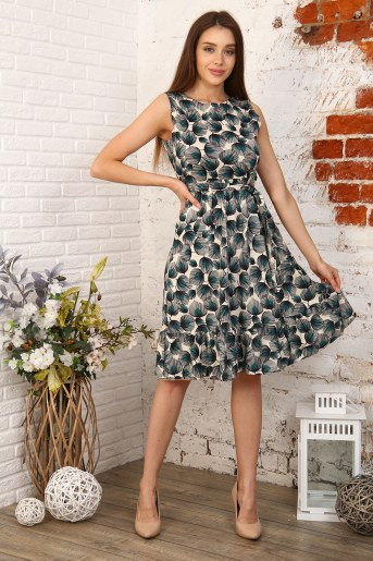 Платье 35021 (Цветы) - Фаина