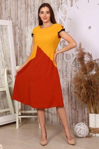 Платье 10396 (Горчица) - Фаина