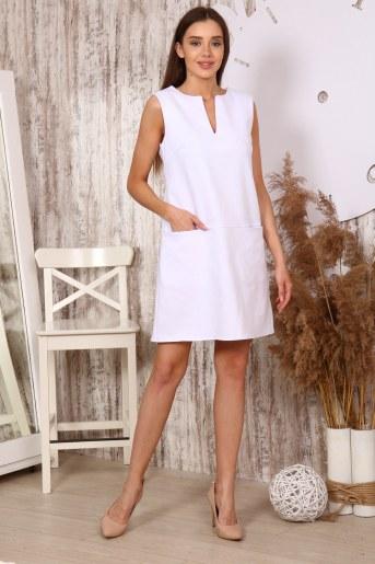 Платье 10397 (Белый) - Фаина