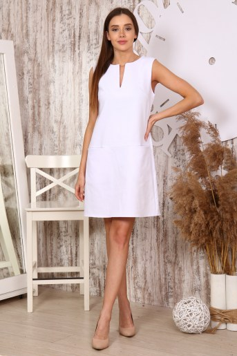 Платье 10397 (Белый) (Фото 2)