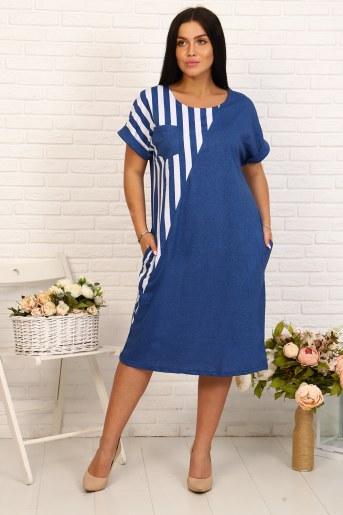 Платье 24223 (Джинс) - Фаина