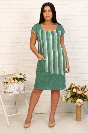 Платье 24221 (Зеленый) - Фаина