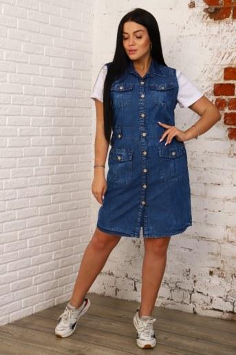 Платье 6972 (Синий) - Фаина