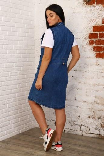 Платье 6972 (Синий) (Фото 2)