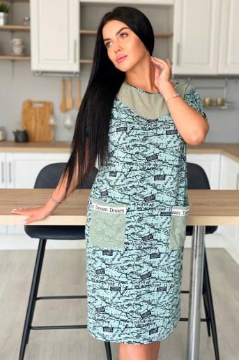 Платье 9060 (Оливковый) - Фаина