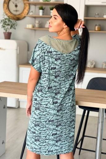 Платье 9060 (Оливковый) (Фото 2)