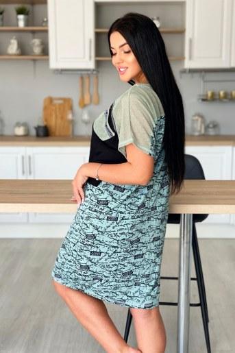 Платье 9059 (Оливковый) (Фото 2)