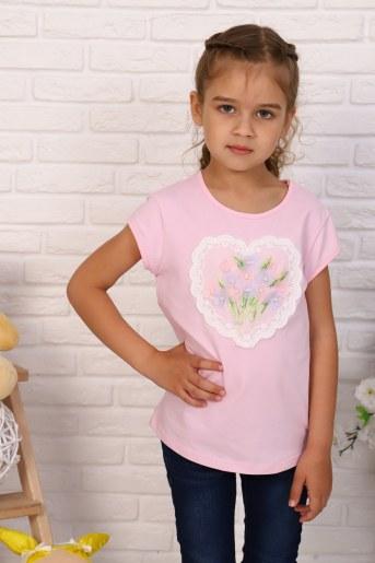Футболка Вальс цветов детская (Розовый) - Фаина