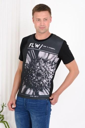 Футболка 36019 (Черный) - Фаина