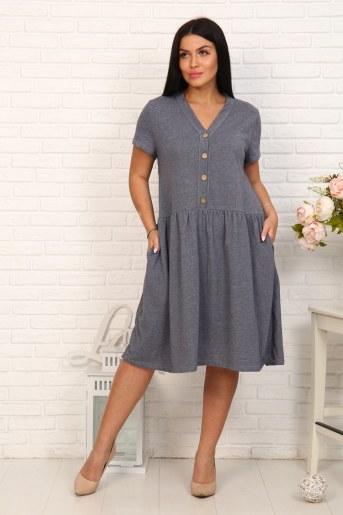 Платье 4863 (Серый) - Фаина