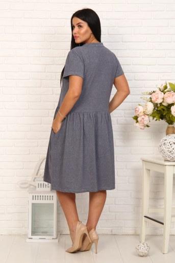 Платье 4863 (Серый) (Фото 2)