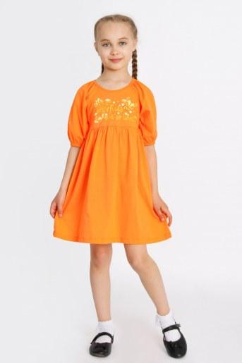 Платье Мозайка детское (Оранжевый) - Фаина