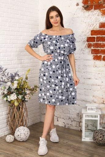 Платье 6981 (Синий) - Фаина