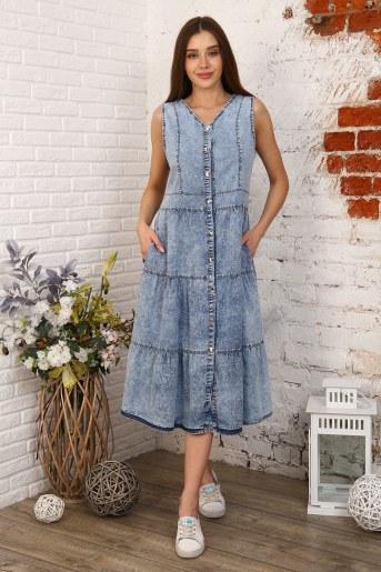 Платье 6978 (Голубой) - Фаина