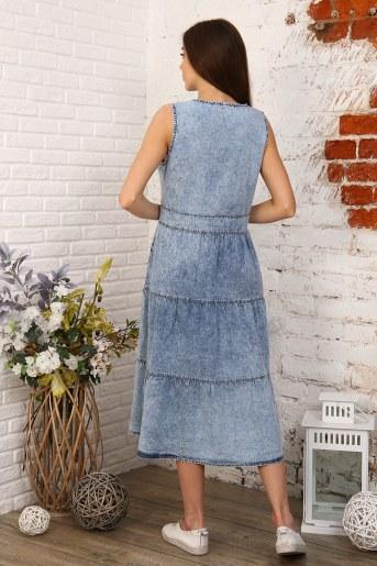 Платье 6978 (Голубой) (Фото 2)