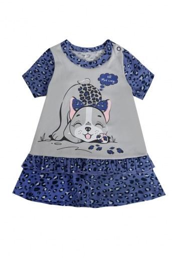 Платье ДИ103-4 детское (Леопард) - Фаина