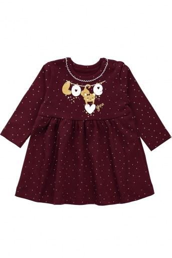 Платье ДИ102-7 детское (Бордо) - Фаина
