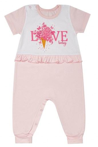Комбинезон 2021ДК-1 детский кор.рукав (Розовый) - Фаина