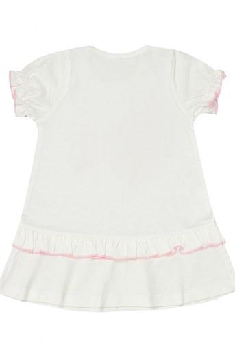 Платье 2021ДК-4/1 детское кор. рукав (Белый) (Фото 2)