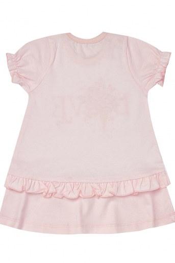 Платье 2021ДК-4 кор. рукав (Розовый) (Фото 2)