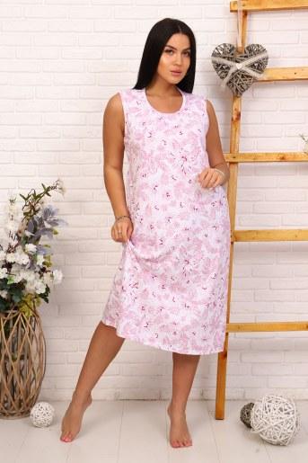 Сорочка 40007 (Розовый) - Фаина