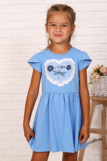 Платье Мгновения детское (Голубой) - Фаина
