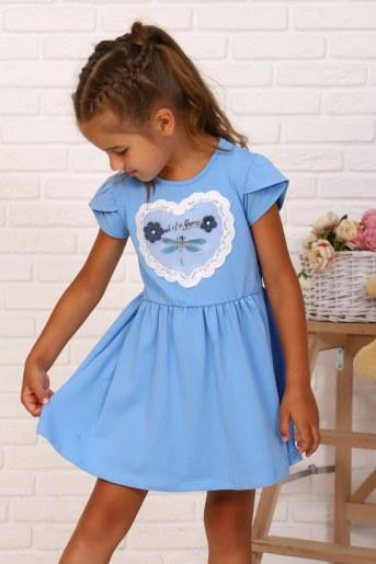 Платье Мгновения детское (Голубой) (Фото 2)
