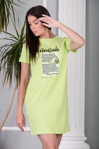 Сорочка Лисбон (Салатовый) - Фаина
