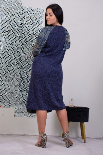 Платье 13491 (Синий) (Фото 2)