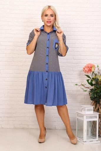 Платье 31545 (Голубой) - Фаина