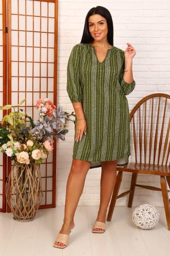 Платье 35047 (Зеленый) - Фаина