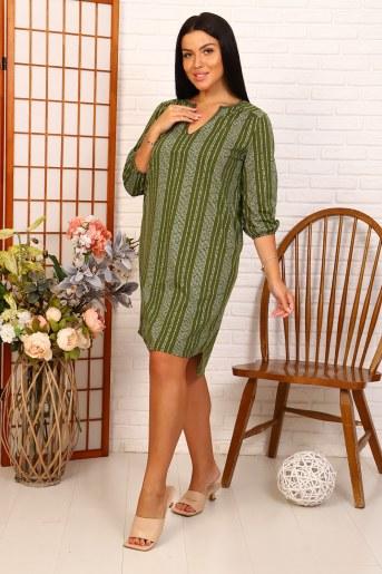 Платье 35047 (Зеленый) (Фото 2)