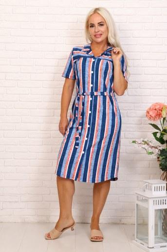 Платье 6999 (Синий) - Фаина