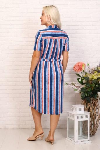 Платье 6999 (Синий) (Фото 2)