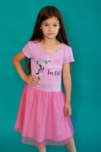 Платье 22472 Enchantimals кор. рукав (Розовый) - Фаина